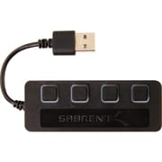 Sabrent® 4-Port USB 2.0 Hub With Individual Power Switches