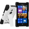 Amzer® Double Layer Hybrid Case For Nokia Lumia 925, White/Black