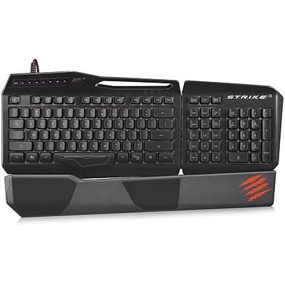 Mad Catz S.T.R.I.K.E. 3 Gaming Keyboard, Black