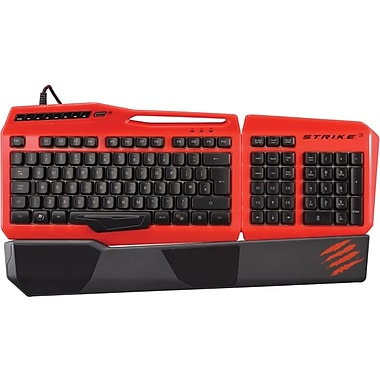Mad Catz® S.T.R.I.K.E. 3 Gaming Keyboard, Red