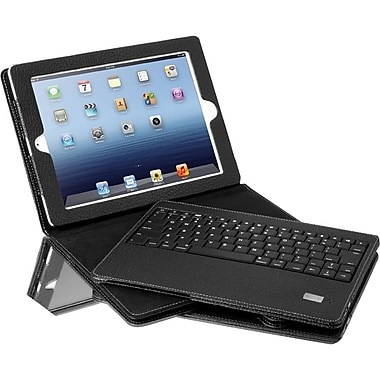 Aluratek Bluetooth Folio Case With Removable Keyboard For iPad 1st/2nd/3rd/4th Gen, Black