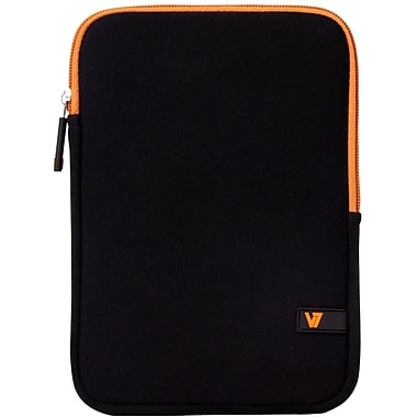 V7® Ultra Protective Sleeve For iPad Mini and Tablets Upto 8in., Black/Orange