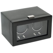 WOLF Heritage Module 2.1 Double Watch Winder With Cover and Lock-In Cuff, Black