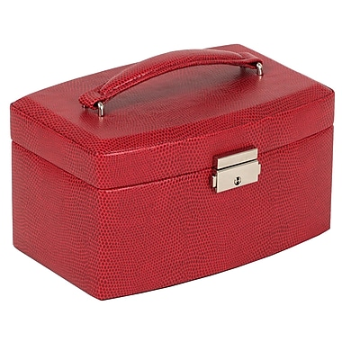 WOLF Heritage Collection 4in. x 7 1/2in. x 5in. South Molton Medium Jewelry Box, Red