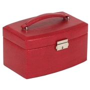 WOLF Heritage Collection 4 x 7 1/2 x 5 South Molton Medium Jewelry Box, Red