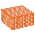 WOLF 1970's 3 1/2in. x 6 3/4in. x 6 3/4in. Medium Trinket Box, Orange