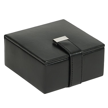 WOLF Heritage Men's Small Cufflink Box, Black