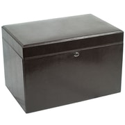 WOLF London 11 x 16 1/4 x 10 3/4 Large Jewelry Case, Cocoa