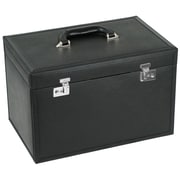 WOLF Queen's Court 10 3/4 x 16 1/4 x 10 Extra Large Jewelry Case, Noir