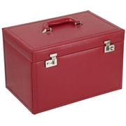 WOLF Queen's Court 10 3/4 x 16 1/4 x 10 Extra Large Jewelry Case, Crimson