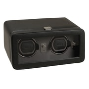 WOLF Module 2.5 Windsor Double Watch Winder With Cover, Black