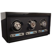 WOLF Meridian Triple Watch Winder, Black