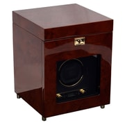 WOLF Module 2.7 Savoy Single Watch Winder With Storage, Burl