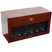 WOLF Module 2.7 Savoy Triple Watch Winder With Cover, Burl
