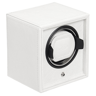WOLF Cub and Cubbies Module 1.8 Single Cub Watch Winder With Lock-In Cuff, White
