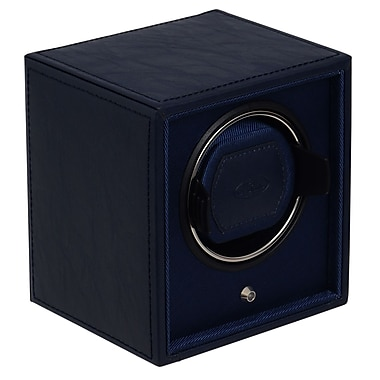 WOLF Cub and Cubbies Module 1.8 Single Cub Watch Winder With Lock-In Cuff, Navy
