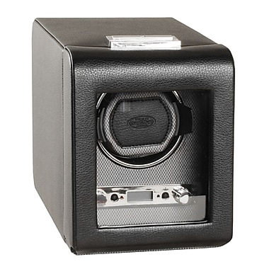 WOLF Viceroy Module 2.7 Single Watch Winder With Cover, Black