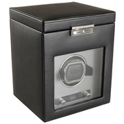 WOLF Viceroy Module 2.7 Single Watch Winder With Cover and Storage, Black