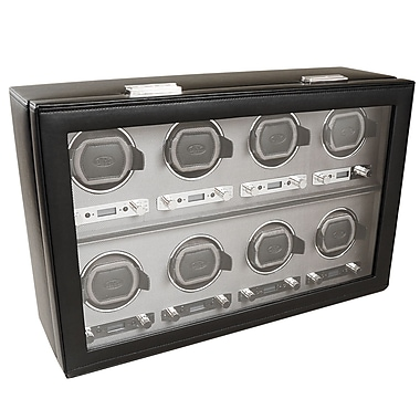 WOLF Viceroy Module 2.7 8 Module Watch Winder With Cover, Black