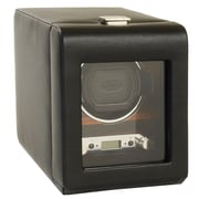 WOLF Module 2.7 Roadster Single Watch Winder With Cover, Black