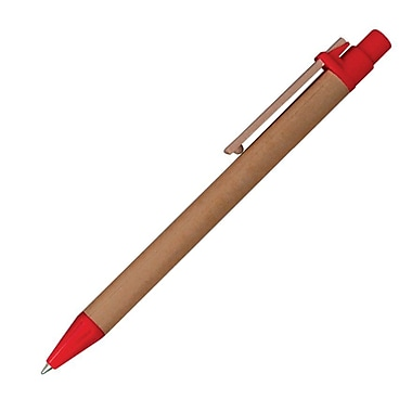 Monteverde® Recycled Paper Ballpoint Pen, 4/Pack, Red