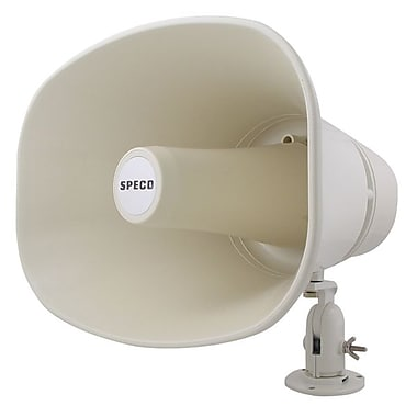 speco technologies® 30 W Weatherproof Megaphone, White