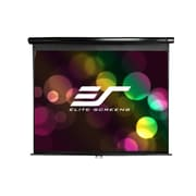 Elite Screens® Manual Series 128 Manual Projection Screen, 16:10, Black Casing