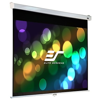 Elite Screens® Manual SRM Pro Series 120in. Manual Projection Screen, 4:3, White Casing