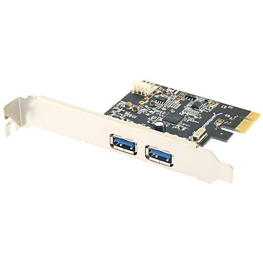 Sabrent PCIX-USB3 2-Port Desktop PCI Express USB 3.0 Adapter, White