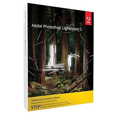 Adobe 65215147 Photoshop Lightroom 5 Student and Teacher Edition Software