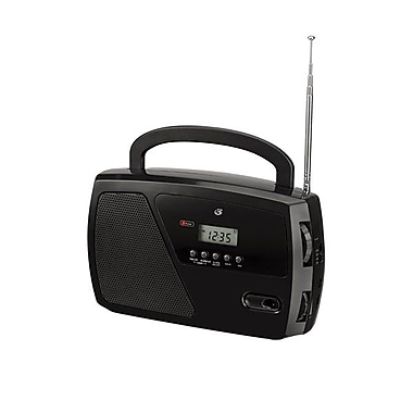 GPX® R633B Shortwave Radio With Digital Clock