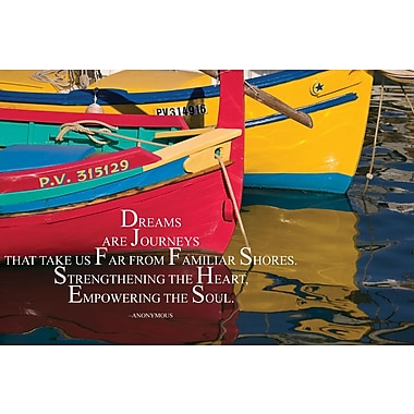 Barker Creek 19in. x 13 3/8in. Poster, Dreams are Journeys