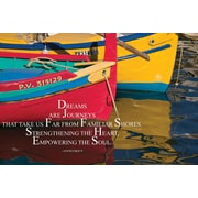 Barker Creek 19 x 13 3/8 Poster, Dreams are Journeys
