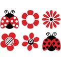 Barker Creek LL-2201 5.5in. x 5.5in. Ladybugs & Posies Decorative Accents, Assorted