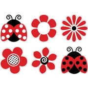 "Barker Creek LL-2201 5.5"" x 5.5"" DieCut Ladybugs & Posies Decorative Accents, Multicolor"