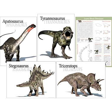 Barker Creek 17 1/2in. x 24in. Poster Set, Dinosaur