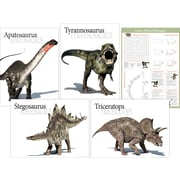 "Barker Creek 17 1/2"" x 24"" Poster Set, Dinosaur"