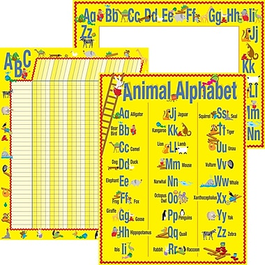 Barker Creek ABC Animals Chart Set
