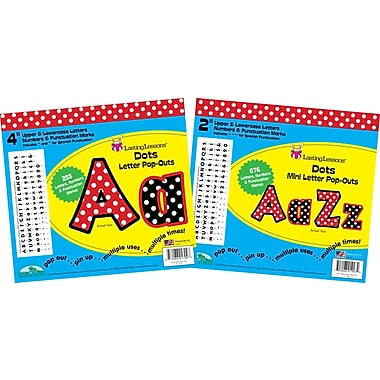 Barker Creek BCP-3501 Pop-Outs Letter Set Dots, Assorted