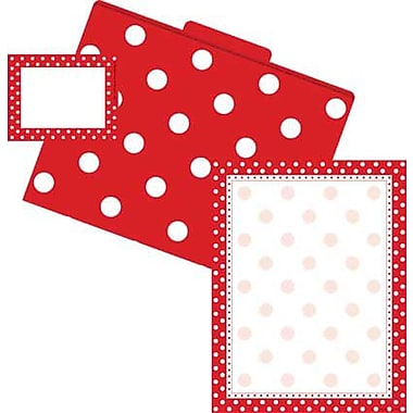 Barker Creek Dots Get Organized Kit, Red/White