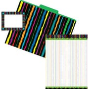 Barker Creek Get Organized Kit, Neon Stripes