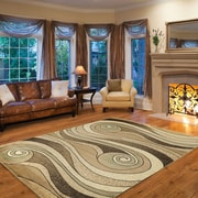 Lavish Home™ Synthetic 60 x 87 Waves Area Rug, Gold/Beige
