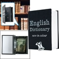 Mini Dictionary Diversion Book Safe With Key Lock, Black