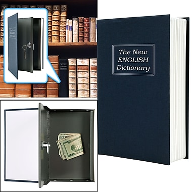 Trademark Global® Dictionary Diversion Book Safe With Key Lock, Black