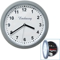 Trademark Global® 10in. x 10in. Hidden Safe Wall Clock, Silver