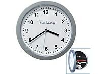 Trademark Global® 10' x 10' Hidden Safe Wall Clock, Silver