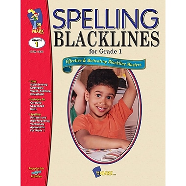 Spelling Blacklines, Grade 1