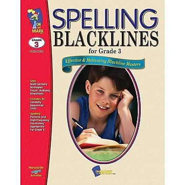 Spelling Blacklines, Grade 3