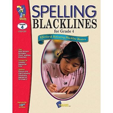 Spelling Blacklines, Grade 4