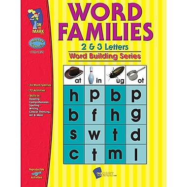 Word Families 2 and 3 Letter Words, Grade 1-3